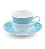 @ Home Blue Bone China 130 ML Cup & Saucer - Set of 6