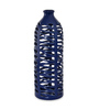 @ Home Blue Ceramic Homely Ink Net Vase