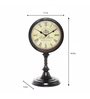@ Home Brown Metal 7.1 x 7.5 x 16.5 Inch Stand Table Clock