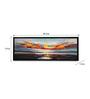 @ Home Canvas & MDF 47.2 x 1.2 x 7.9 Inch Earthy Ocean Sky Framed Art Print