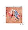 @ Home Canvas & MDF 7.9 x 1.2 x 7.9 Inch Earthy Birds Framed Art Panel - Set of 2