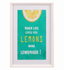 @ Home Canvas & Wood 21.7 x 1.8 x 14.6 Inch Casual Smile Lemon Framed Painting - Set of 2