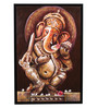 @ Home Canvas & Wood 25.6 x 1.6 x 37.4 Inch Ganesha Religious Framed Painting