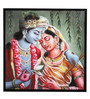 @ Home Canvas & Wood 33.5 x 1.6 x 33.5 Inch Radha Krishna Religious Framed Painting