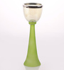 @ Home Green Glass English Candle Holder