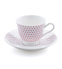 @ Home Multicolour Bone China 130 ML Cup & Saucer - Set of 6