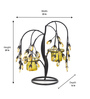 @ Home Multicolour Glass 2-Votive Stand Candle Holder