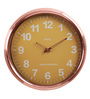 @ Home Yellow Metal 15.7 x 2.8 x 15.7 Inch Classic Round Wall Clock