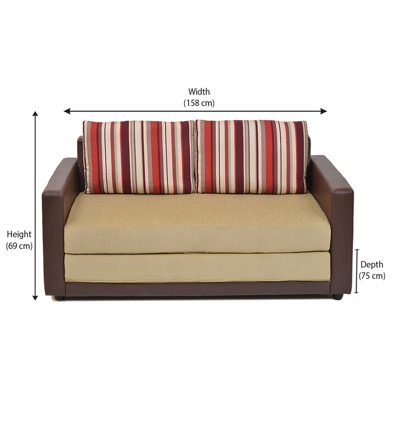 home Aloes Sofa cum Bed by Home line Fabric