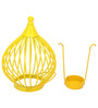 @Home by Nilkamal Yellow Boond Hanging Tealight Holder