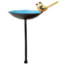 Wonderland Bird on Bowl Bird Feeder with Stick
