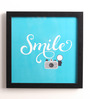 10am Wood & Canvas 10 x 0.5 x 10 Inch Smile Framed Digital Poster
