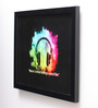 10am Wood & Canvas 10 x 0.5 x 8 Inch Music is What Feeling Framed Digital Poster