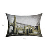 13 Odds Black & White Poly Taffeta 12 x 18 Inch Classic Style Print with Gold Highlights Cushion Cover