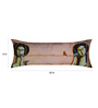 13 Odds Copper Poly Taffeta 12 x 32 Inch Silent Magic Printed with Silver Embroidery Highlights Cushion Cover