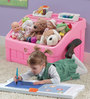 2-In-1 Toy Box & Art Lid  in Pink Color by Step 2