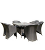 Four Seater Golden Brown Dining Set (1T + 4C) by Vetra