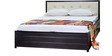 5033 King-Size Bed in Black Colour by Furniturekraft