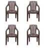6020 Chair Set of Four in Brown Colour by Nilkamal