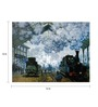 64Arts Canvas 16 x 12 Inch Arrival of the Normandy Train by Claude Monet Unframed Digital Art Print