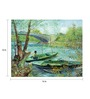 64Arts Canvas 16 x 12 Inch Fishing in the Spring by Vincent Van Gogh Unframed Digital Art Print