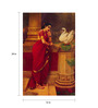 64Arts Canvas 16 x 24 Inch Hamsa Damayanthi by Raja Ravi Varma Unframed Digital Art Print