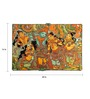 64Arts Canvas 24 x 16 Inch Krishna in Vrindavan by Kerala Mural Art Unframed Digital Art Print