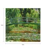 64Arts Canvas 16 x 12 Inch The Water Lily Pond by Claude Monet Unframed Digital Art Print