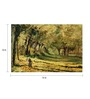 64Arts Canvas 16 x 10 Inch Woman in The Forest by Claude Monet Unframed Digital Art Print