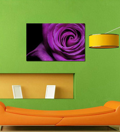 999Store Purple Rose PVC Vinyl 35 X 0.19 X 24 Inch Wooden Framed Digital Art Print