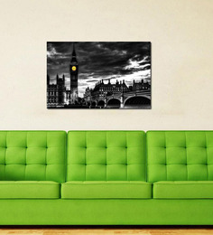 999Store London PVC Vinyl 35 X 0.19 X 24 Inch Wooden Framed Digital Art Print
