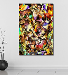 999Store Vinyl 48 X 0.4 X 72 Inch Colourful Dimensional Abstract Painting Unframed Digital Art Print