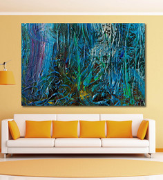 999Store Vinyl 72 X 0.4 X 48 Inch Modern Abstract Painting Unframed Digital Art Print