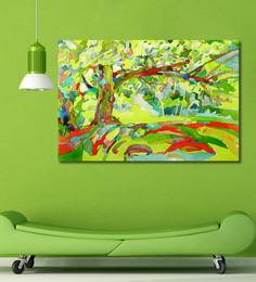 999Store Vinyl 72 X 0.4 X 48 Inch Tree Painting Unframed Digital Art Print