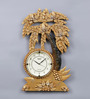 999Store Gold Wooden 13 x 0.4 x 22 Inch Royal Hand Made Antique Decorative Designer Clock