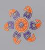 999Store Multicolour Wooden Handmade Rangoli - Set of 7