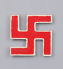 999Store Multicolour Wooden Handmade Red Swastik Spiritual Wall Hanging