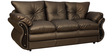 A2 Three Seater Sofa in Golden Brown Leatherette by Sofab