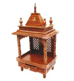 Aarsun Woods Brown Wooden Hand Crafted Temple