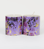 Aapno Rajasthan Multicolour Wax Festive Design Pillar Candle - Set of 2