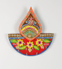 Aapno Rajasthan Multicolour Wood & Clay Diya Design Art Key Hanger