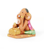 Aapno Rajasthan Pink & Brown Terracotta Writing Ganesh