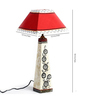 Aapno Rajasthan Red & White Cotton Table Lamp