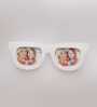 Aapno Rajasthan White Acrylic Wonderful Goggles Shape Collage Photo Frame