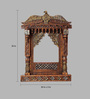 Aarsun Woods Brown Mango Wood Hand Carved Traditional Rajasthani Jharokha Dual Polish
