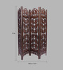 Aarsun Woods Brown Mango Wood Hand Crafted Partition Screen