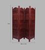 Aarsun Woods Brown Sheesham Wood Capria Handcrafted 4 Panel Partition Screen