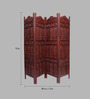 Aarsun Woods Brown Sheesham Wood Hand Crafted Partition Screen