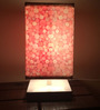 Nutcase Red Fabric Circular Pattern Designer Table Lamp