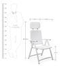 Acquamarina Relax Chair in Bianco Finish by Nardi